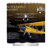 Boeing Stearman N2s Kaydet Shower Curtain