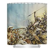 Boers Fighting Natives Shower Curtain