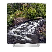 Bog River Cascade Shower Curtain