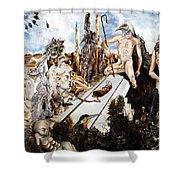 Bogomils Court Shower Curtain by Otto Rapp
