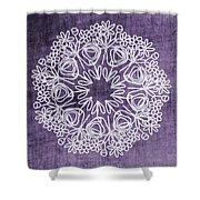 Boho Floral Mandala 2- Art By Linda Woods Shower Curtain