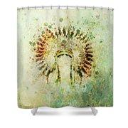Boho Headdress Shower Curtain