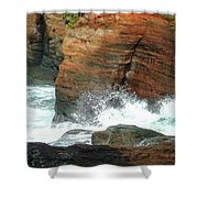 Boiler Bay Waves Shower Curtain