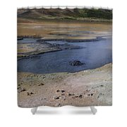 Boiling Mud Pool Iceland  Shower Curtain