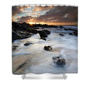 Boiling Tides Shower Curtain