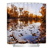 Boise River Autumn Glory Shower Curtain