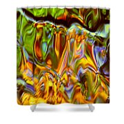 Boisterous Bellows Of Colors Shower Curtain