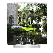 Bok Tower With Moat Shower Curtain