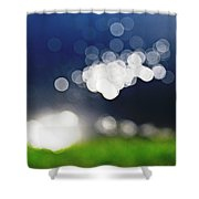 Bokeh By The Lake Shower Curtain