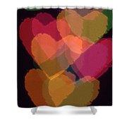 Bokeh Hearts 1 Shower Curtain