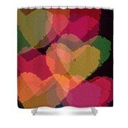 Bokeh Hearts 4 Shower Curtain