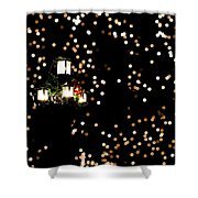 Bokeh Lantern Shower Curtain