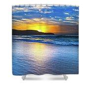 Bold And Blue Sunrise Seascape Shower Curtain