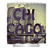 Bold Chicago Shower Curtain