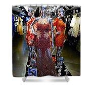 Bold Mannequins Fashion Display In Palma Majorca Spain Shower Curtain