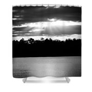 Bold Rays Monochrome Shower Curtain