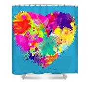 Bold Watercolor Heart - Tee Shirt Design Shower Curtain