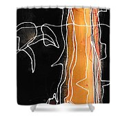 Bold White Lines One Shower Curtain