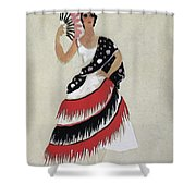 Bolero Costume Shower Curtain