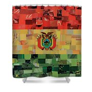 Bolivia Flag Shower Curtain