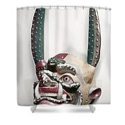 Bolivia: Native Mask Shower Curtain