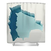 Bolivia Simple Intrusion Map 3d Render Shower Curtain