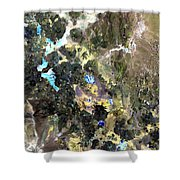 Bolivian Andes From Space Shower Curtain
