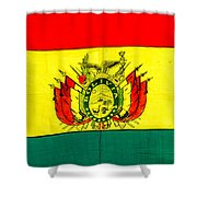 Bolivian Flag Shower Curtain