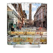 Bologna Artworks Of The City Hanging In  Shower Curtain