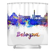 Bologna Skyline In Watercolor Shower Curtain