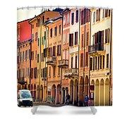 Bologna Window Balcony Texture Colorful Italy Buildings Shower Curtain