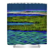 Bolsa Chica Wetlands I Abstract 1 Shower Curtain