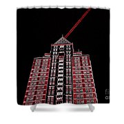 Bolt Out Of Blackness Shower Curtain