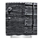 Bolted Wood Shower Curtain