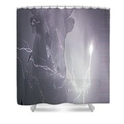 Bolting Bull Shower Curtain