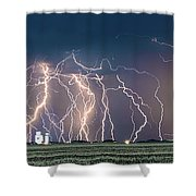 Bolts Over Bushland Shower Curtain