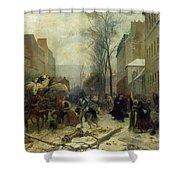 Bombardment Of Paris In 1871 Shower Curtain