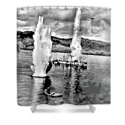 Bomber Attack Shower Curtain