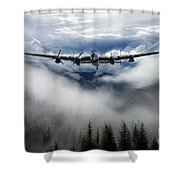 Bomber Threat Shower Curtain