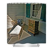 Bon Secour Lounge On The Porch Shower Curtain