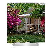 Bon Secour Pink Porch Shower Curtain