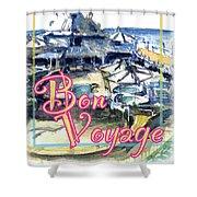 Bon Voyage Cruise Shower Curtain