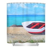 Bonaire Boat  Shower Curtain