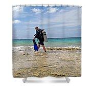 Bonaire Shore Diving 3 Shower Curtain