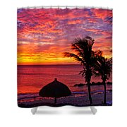 Bonaire Sunset 1 Shower Curtain