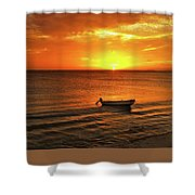 Bonaire Sunset 4 Shower Curtain