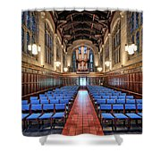Bond Chapel Pipes View Shower Curtain