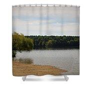 Bond Lake Beach Shower Curtain