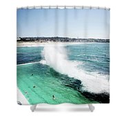 Bondi Icebergs Shower Curtain
