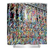 Bonfim Wish Ribbons Shower Curtain